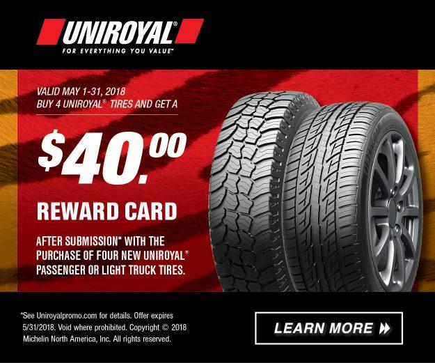 Uniroyal 2018 May Promotion